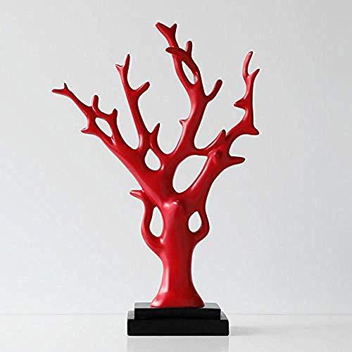 Dekoartikel & Figur Skulpturen Figuren Harz glücklicher Baum glücklicher Baum Dekoration zuhause Wohnzimmer Veranda weinschrank Dekoration Geschenk rot ()