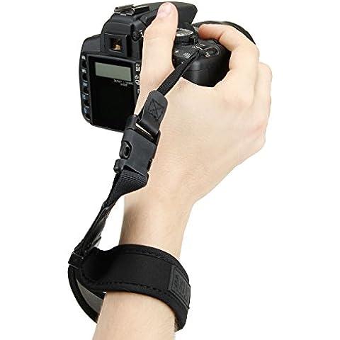 USA GEAR TrueSHOT Correa Empuñadura Muñeca Mano Cámara Reflex Estabilizadora - Para Compatible con Canon EOS 1300D , 760D , 750D , 80D, 70D / Nikon D3300 , D3200 / Sony Alpha A6300 , A6000 , A7R II / Pentax K50 / Olympus ¡Y