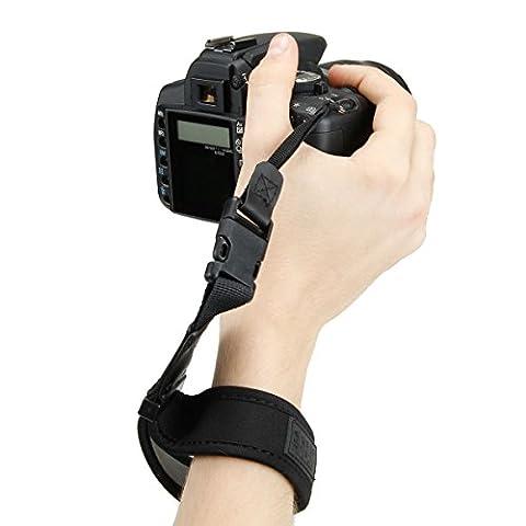 TrueSHOT Handgelenkband für Spiegelreflexkameras wie Canon EOS 750D 700D 80D 70D 100D 1200D Nikon D5300 D3300 D7200 D7100 D5500 Sony Alpha