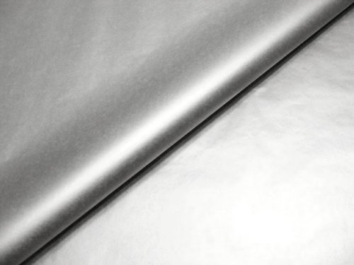 Swoosh Supplies Geschenkpapier Metallic-Design, 51 x 76 cm, 100 Bögen metallic silver