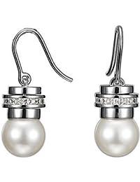 Esprit Damen-Ohrringe Unique Pearl Xl Sterling-Silber 925 ESER-91064.A