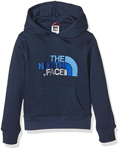 North Face Y Drew Peak Plv Hd Felpa con Cappuccio per ragazzi, Blu (Cosmicbl/Jakebl), L