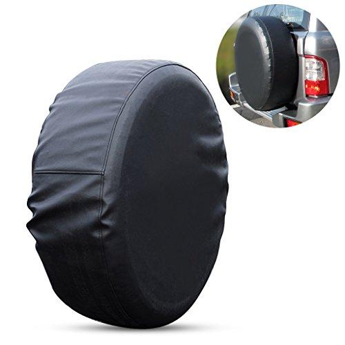Ersatzradabdeckungen, EFORCAR PVC-Leder-Universal-Reserverad-Abdeckungs-Schutz für Auto-Ersatz-Reifen UV-Mehltau-beständig - 27.6-29.5 Zoll