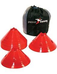 Precision - Juego de conos para entrenamiento (PVC, 20 unidades) rojo rosso Talla:30 cm