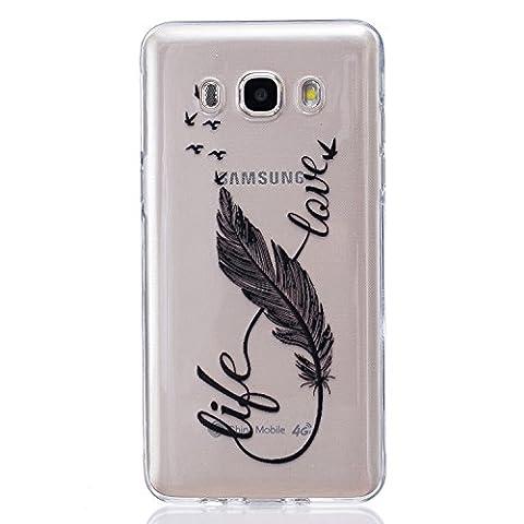Coque Samsung Galaxy J5 2016 Gel de Silicone Housse, Coffeetreehouse