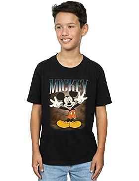 Disney Niños Mickey Mouse Tongue Montage Camiseta