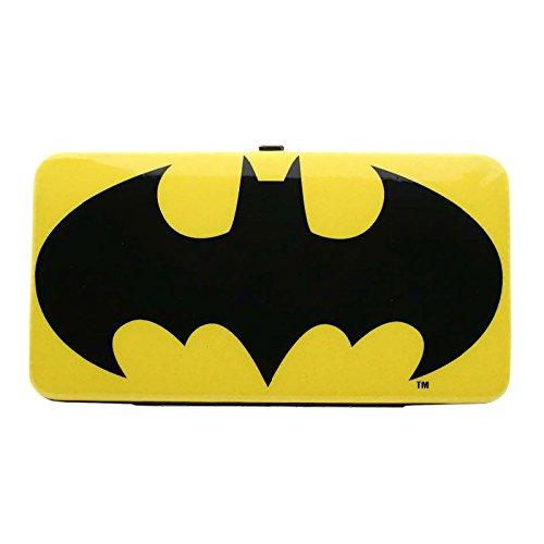 Batman - Portefeuille pour dames enfants logo Glitter scintillant - Grande taille - Elbenwald