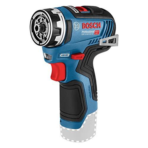 Bosch Professional 06019H3004 12V Akkuschrauber GSR 12V-35 FC (ohne Akku, FlexiClick System, max. Bohr∅ Holz/Stahl: 32/10 mm, im Karton), 12 V, blau