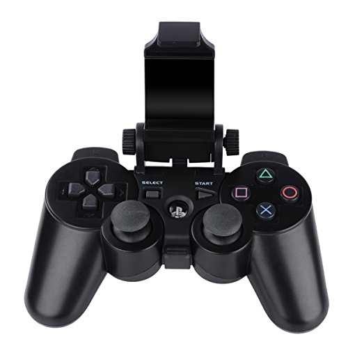 180 Grad Handy Gaming Clip, megadream® Playstation PS4 Controller Game Smart Phone Halterung Aufbewahrung Tablet Ständer Halter Maximale Klemme 15,2 cm für Android Samsung Sony HTC mit OTG Datenkabel