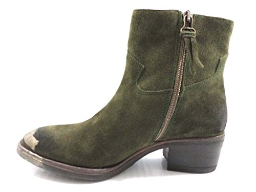 Image of LORENZO MARI ankle boots dark green Black suede (40 EU, dark green)