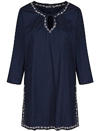 likemary Cotton Embroidered Kaftan Tunic Dress
