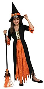 Halloween - Disfraz de Bruja gótica para niña, Talla L infantil 8-10 años (Rubie