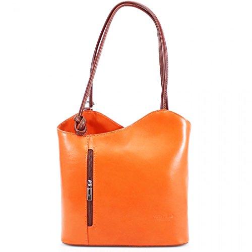 Elegant, Borsa a tracolla donna Orange/Tan