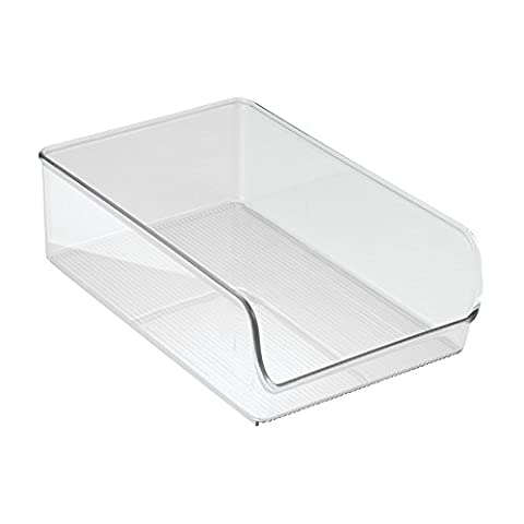 InterDesign Linus Kitchen, Pantry, Refrigerator, Freezer Storage Container - Large, Clear