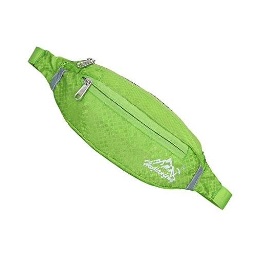 Sport Hüfttasche, Wasserdicht Unisex, Brusttasche für Radfahren, Bergsteigen, Wandern, Jogging Grün