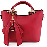LeahWard® Women's Faux Leather Tote Grab Handbags Shoulder Bags With Bow 32