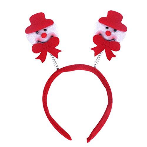 PinzhiWeihnachten Cute Santa Schneemann Hairband Stirnband Hut Xmas Party Dekoration (Santa Hüte Einzigartige)