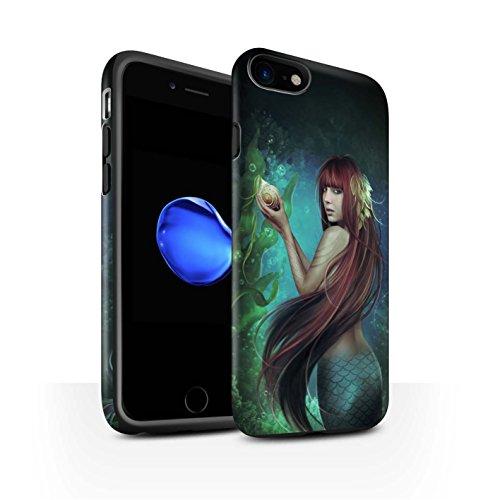 Offiziell Elena Dudina Hülle / Matte Harten Stoßfest Case für Apple iPhone 8 / Pack 7pcs Muster / Agua de Vida Kollektion Meerjungfrau/Muschel