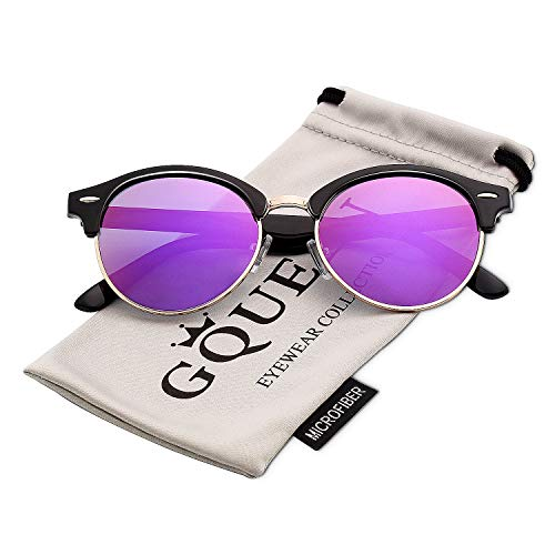 0a54cb1583 GQUEEN Classic Horn Rimmed Half Frame Polarized Sunglasses Brand Designer  GQ51