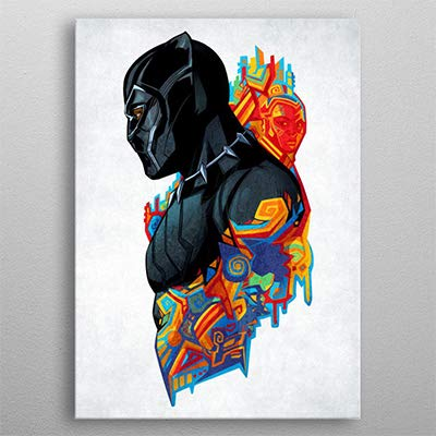Displate Marvel Metal Poster Black Panther King'S