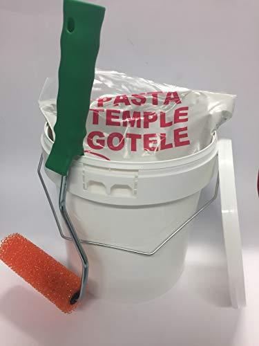 KIT GOTELÉ; 5 Kilos pasta de gotele + Bote 4 litros para mezclar + Rodillo especial efecto relieve