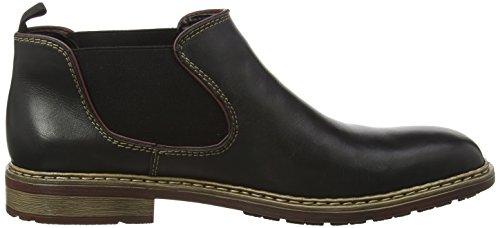 Rieker B1282 Herren Chelsea Boots Schwarz (nero/bordeaux / 00)
