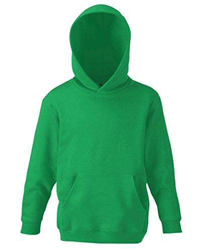 Unisex-Kapuzen-Sweatshirt/Hoodie für Kinder von Fruit of the Loom Gr. 12 Jahre, kelly green -