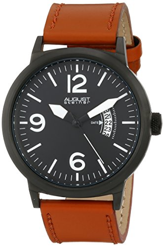 August Steiner da uomo, analogico, al quarzo giapponese per Display orologio, colore: marrone
