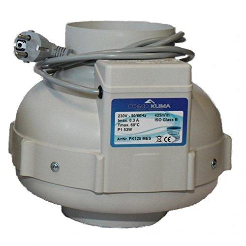 Prima Klima 425m³/h Rohrventilator 125mm Anschluß One Speed