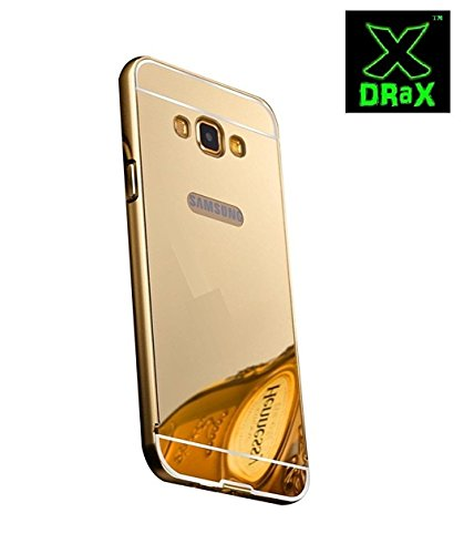 Samsung Galaxy Note 2 Back Cover Metal Mirror Bumper Golden Back case Cover by DRaX®  available at amazon for Rs.299