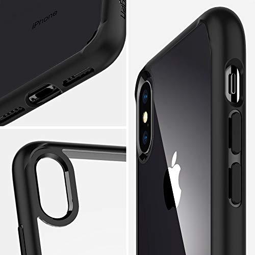 spigen Ultra Hybrid Funda iPhone XS MAX con Tecnología de cojín de Aire y protección híbrida de la Gota para iPhone XS MAX 6.5' (2018) - Negro Mate