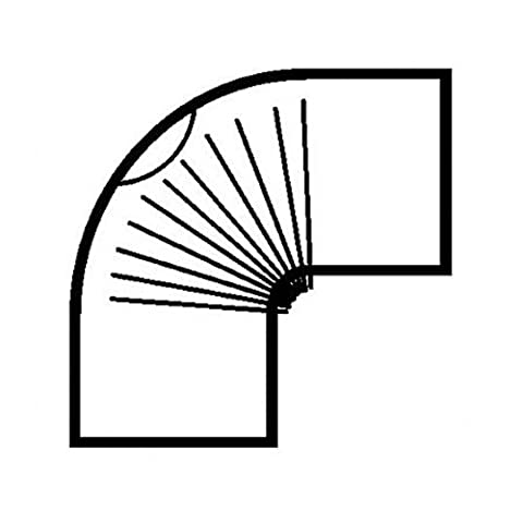 Ofenrohr, Bogen, gerippt, 90°, Prüföffnung, emailliert, ø 100 mm Mattschwarz