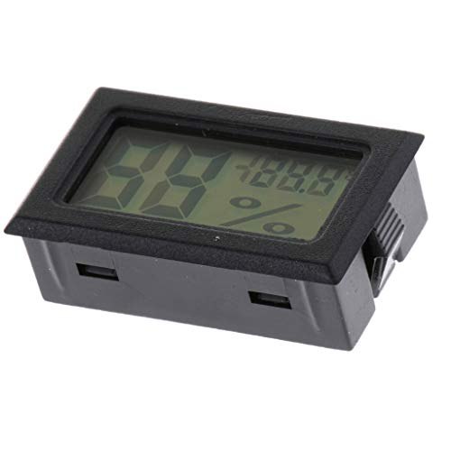 SM SunniMix Digitales Thermo-Hygrometer für Terrarien - Schwarz ohne Sonde
