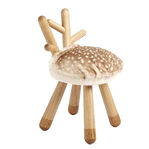 Weihnachten Elch Giraffe Schaf Kind Massivholz Kreative Geschenke Schuhe Wechseln Lange Beine Kleine Bank,Elk Elk Schuhe