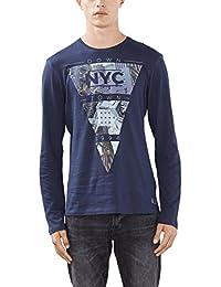 edc by Esprit 096cc2k007, T-Shirt à Manches Longues Homme