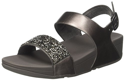FitFlop Sparklie Roxy, Tongs Femme Argento (Pewter)