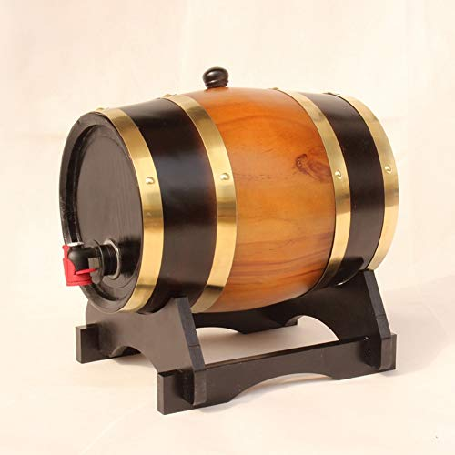 HXPP Personalisierte Tequila Eichenfass, Dispenser mit Fassständer for die Lagerung von Tequila Rum...