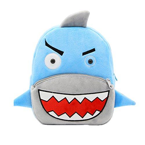 Acheter en ligne Gwell Sac à Dos Enfant Dessinée Cartable Primaire Sport Fille Garçons Peluche Requin Bleu