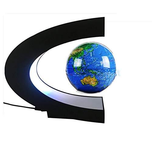 WPFC Magnetschwebebahn Floating Globe Lampe Pädagogische Geschenke für Kinder Home Office Schreibtisch Dekoration Ausgesetzt Globus,Blue -