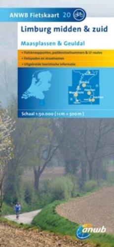 Fietskaart 20 Limburg Midden en zuid1 : 50 000 mit Radwegen: Maasplassen & Geuldal: Schaal 1:75.000 (ANWB fietskaart (20))