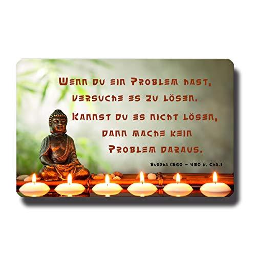 Kühlschrankmagnet Buddha lustig mit Spruch Problemlösung Deko Magnet Poesie Sprüche für Kühlschrank Magnettafel Motivation Geschenk