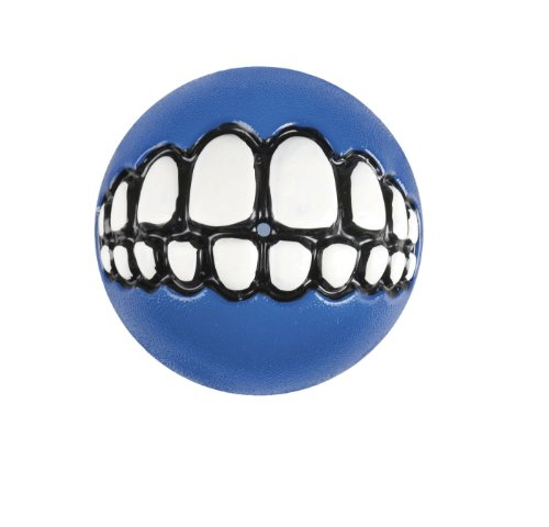 Rogz Hundespielzeug Grinz Ball, klein, 4,9cm, Blau