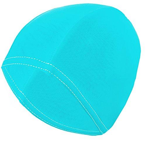Gwinner Badekappe Schwimmkappe Damen - für lange Haare - elastisches Stretch-Material - Bathing Cap, Türkis