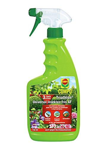 Schädlingsbekämpfung (COMPO Triathlon Universal Insekten-frei AF, Bekämpfung von Schädlingen an Zier- und Zimmerpflanzen, Anwendungsfertig, 750 ml)