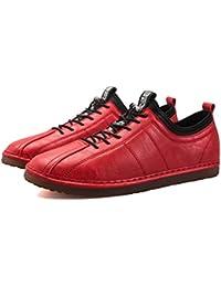QLVY Zapatos de Cuero Casuales de Hombre de Vestir Mocasines Zapatos de Oxford