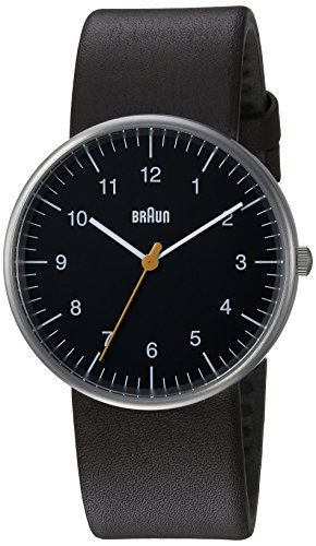 Braun Mens Quartz Watch, Analogue Classic Display and Leather Strap BN0021BKBRG