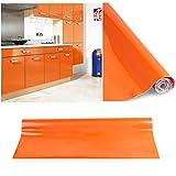 Carta adesiva 60 x 500 cm per Mobili Cucina adesivo arancione Carta da Parati Cucina in PVC