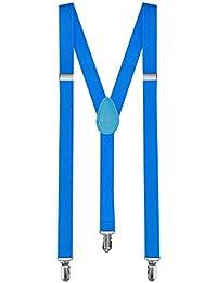 1 Tirantes Elásticos Ajustable Para Pantalones Y-diseño Clip hombre mujer niño azul claro