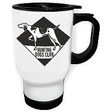 Disegno del club di cani da caccia in nero Viaggi termica Bianco tazza 14 once 400ml w824tw