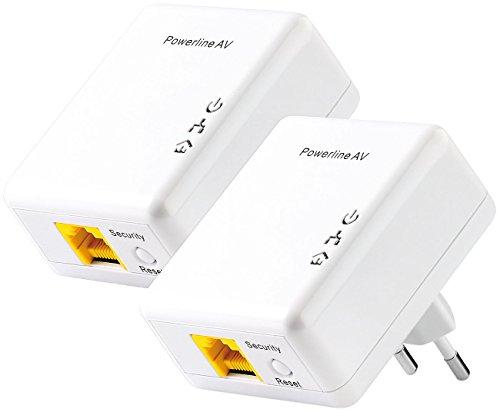 7links LAN Steckdose: 500Mbps-Nano-Powerline-Netzwerkadapter (2er-Set) (LAN Adapter)